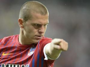 Bourceanu leaves a hole in Steaua's midfield.